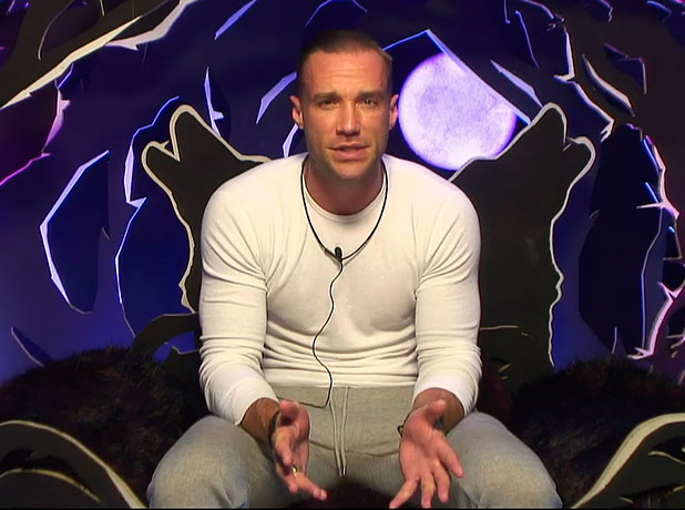 Calum Best in the Diary Room on Celebrity Big Brother, January 2015