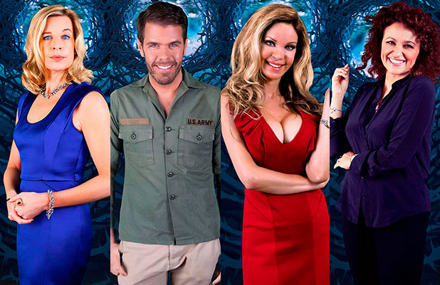 Celebrity Big Brother January 2015 housemate: Alicia Douvall, Katie Hopkins, Perez Hilton and Nadia Sawalha.