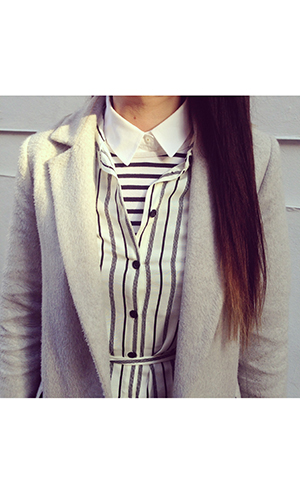 Close up crop of stripe trend