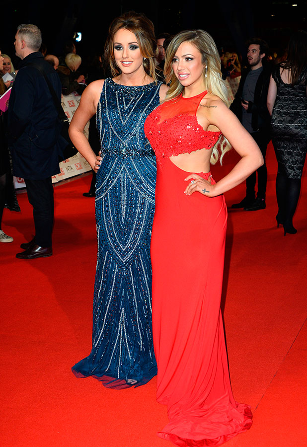 Charlotte Crosby, Holly Hagan attend the National Television Awards at 02 Arena on January 21, 2015 in London, England.