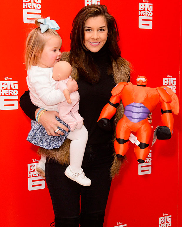 Imogen Thomas and daughter Ariana at 'Big Hero 6' UK Gala Screening held at Odeon Leicester Square - Arrivals, 18 January 2015