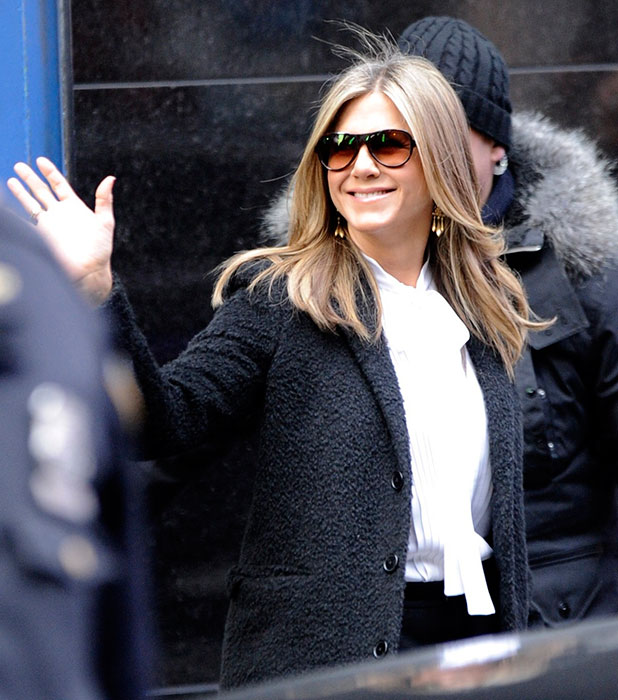 Jennifer Aniston arrives for ABC's 'Good Morning America'on January 21, 2015 in New York City. (Photo by Raymond Hall/GC Images)