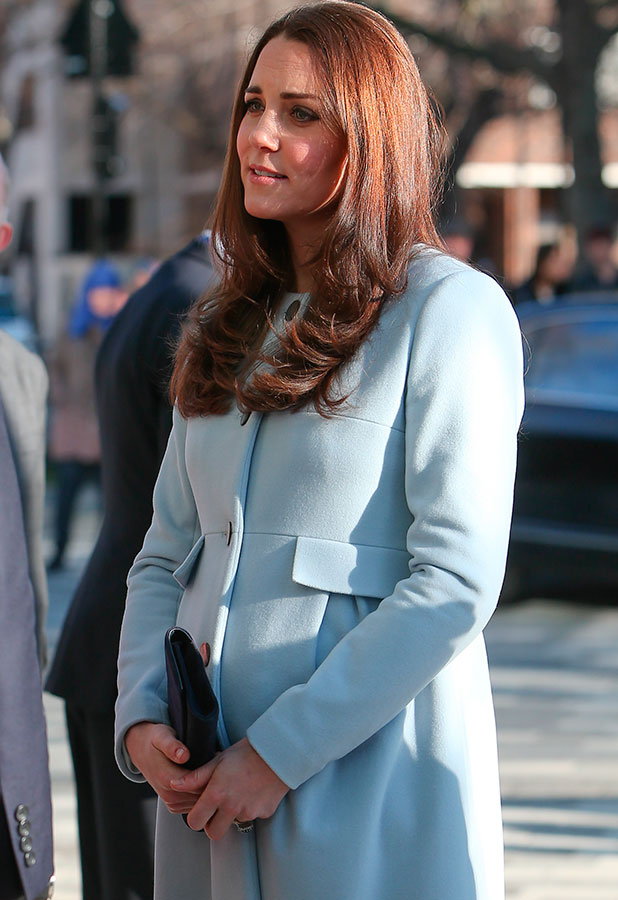 Catherine, Duchess of Cambridge arrives for an official engagement at the Kensington Aldridge Academy, 19 January 2015