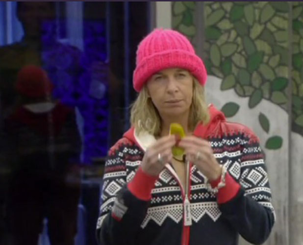 CBB: Katie Hopkins is angry at Perez Hilton smushing his face against a window, 21 January 2015