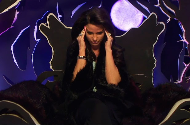 Katie Price is called to the diary room and told that she will now have to save one housemate from the nomoination and put someone else up. Katie Price chose to saved Katie Hopkins and put Calum Best up for nomination on 'Celebrity Big Brother - Live Twist', Shown on Channel 5 HD