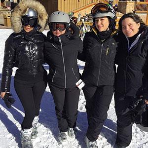 Kim Kardashian and Kanye West enjoy a Utah skiing break, 17 January 2015