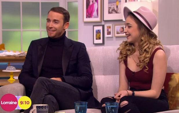 Lauren Platt and Jay James on Lorraine, ITV, 20 January 2015