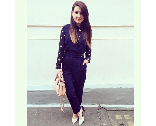 Fashion assistant Harriet Davey wears Topshop spring collection