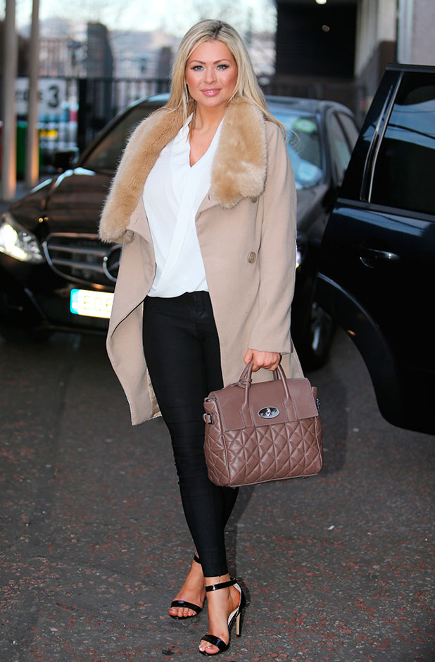 Nicola McLean outside ITV Studios, 20 January 2015