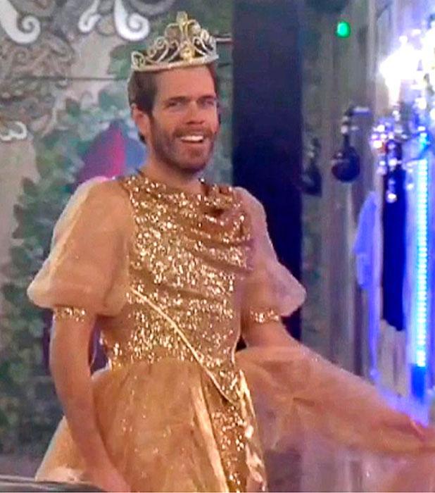 CBB: Perez Hilton slips into Katie Price's gold dress, 18 January 2015
