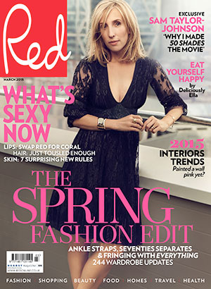 Sam Taylor-Johnson is cover star of Red magazine, March 2015