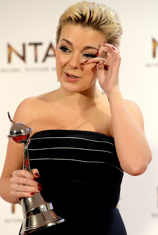 Sheridan Smith, winner of the Best Drama Performance award, poses in the winners room at the National Television Awards at 02 Arena on January 21, 2015 in London, England.