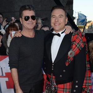 Simon Cowell and David Walliams at Britain's Got Talent Edinburgh Auditions held at Edinburgh Festival Theatre - Arrivals. 01/19/2015.