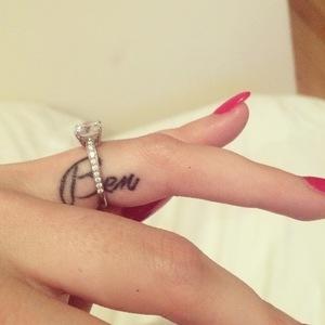 Kaya Scodelario shows off engagement ring & 'Ben' tattoo 24 January