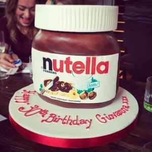 Giovanna Fletcher celebrates her 30th with Nutella themed cakes - 26 Jan 2015