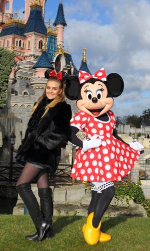 Little Mix singer Perrie Edwards visits Disneyland Paris in France - January 2015.