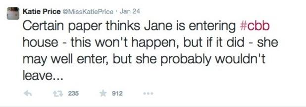 Katie Price's brother speaks about Jane Pountney CBB speculation - 26 Jan 2015