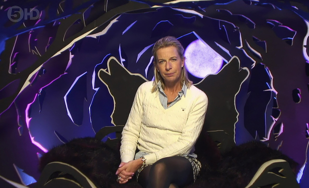 Katie Hopkins nominating in the Celebrity Big Brother house - January 2015.