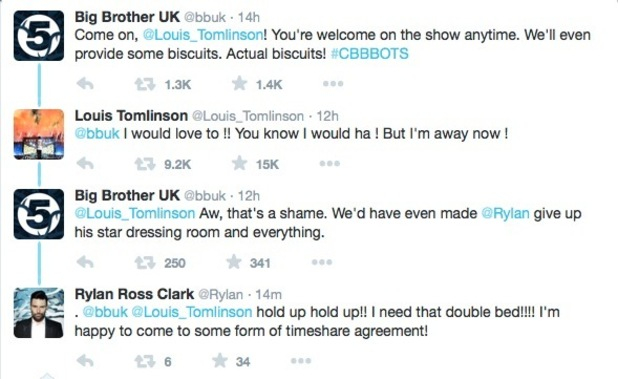 CBBBOTS tweet Louis Tomlinson about appearing as a celeb guest on the show 28 January