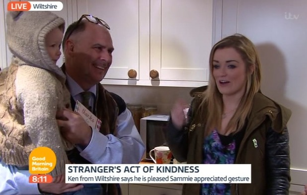 Sammie Welch meets Ken Saunders on Good Morning Britain, 28/1/15