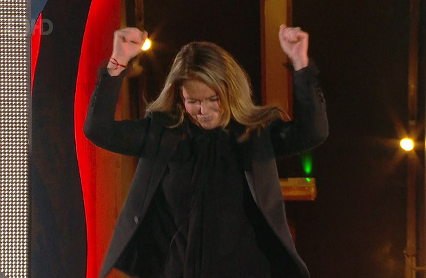 Patsy Kensit is evicted from the Celebrity Big Brother house - 27 January 2015.
