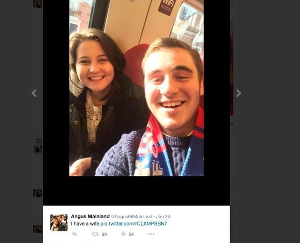Angus Mainland, reunited with dream girl through Twitter