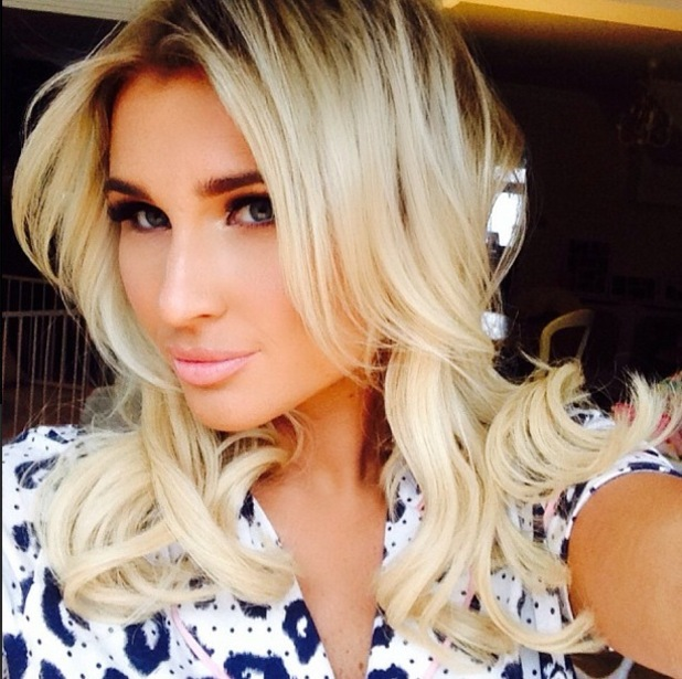 TOWIE's Billie Faiers takes a selfie during a photoshoot - 28 January 2015