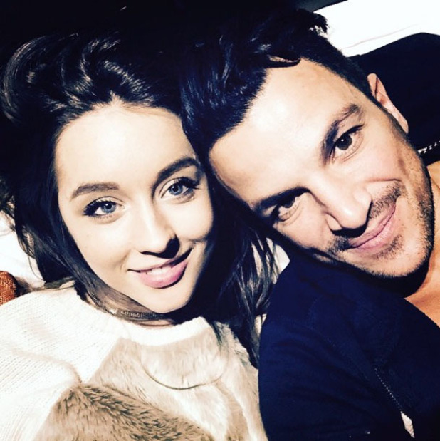 Peter Andre and Emily MacDonagh pose for selfie after Dr news - 28 Jan 2015