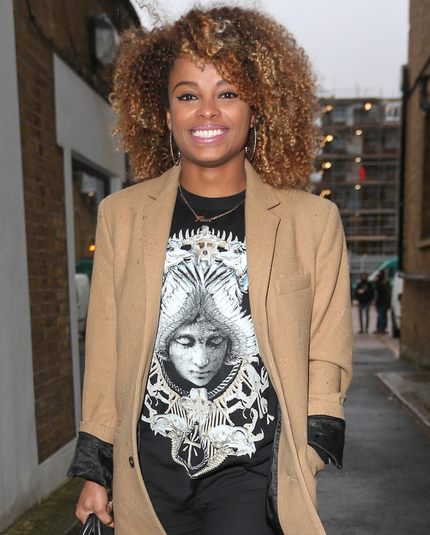 Fleur East arrives at a London studio for the X factor tour rehearsals - 29 Jan 2015