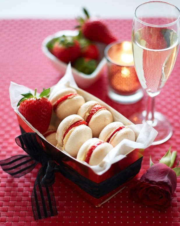 ... homemade Strawberry & Almond Macaroons - Lifestyle Recipes - Reveal