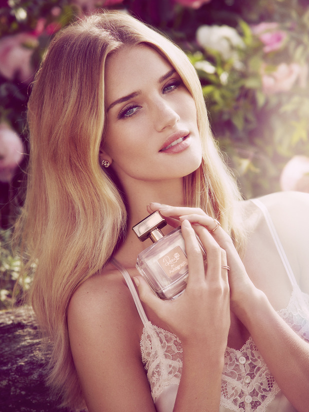 Rosie Huntington-Whiteley's campaign image for her debut fragrance, Rosie for Autograph - 27 January 2015