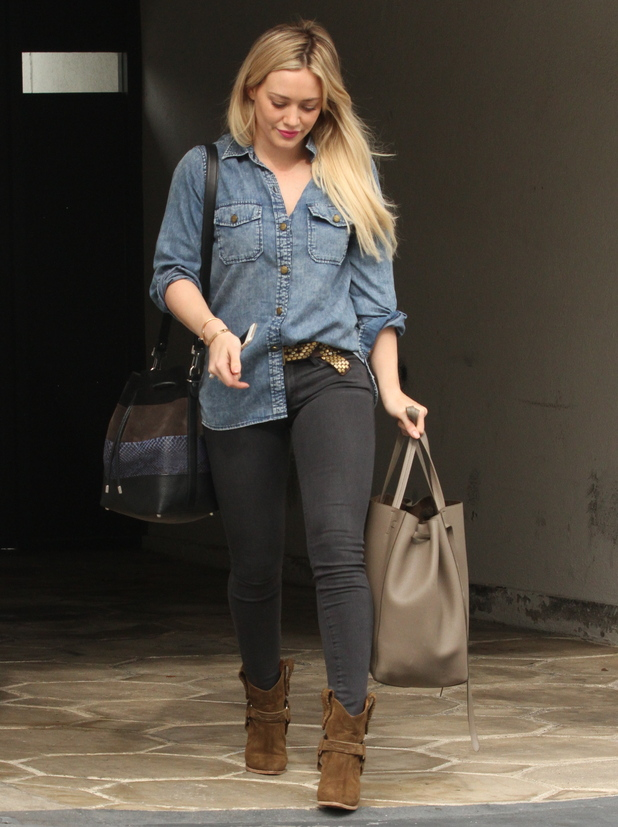 Hilary Duff leaves the gym in LA 29 January