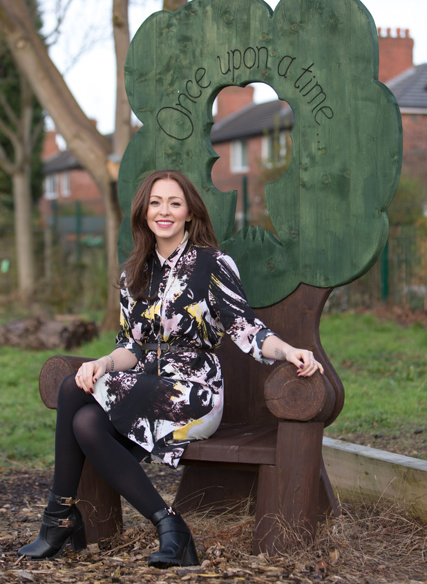 Natasha Hamilton shows off her new dark brunette hair while launching The Big Boxtrolls Recycling Week Challenge in Manchester - 27 January 2015