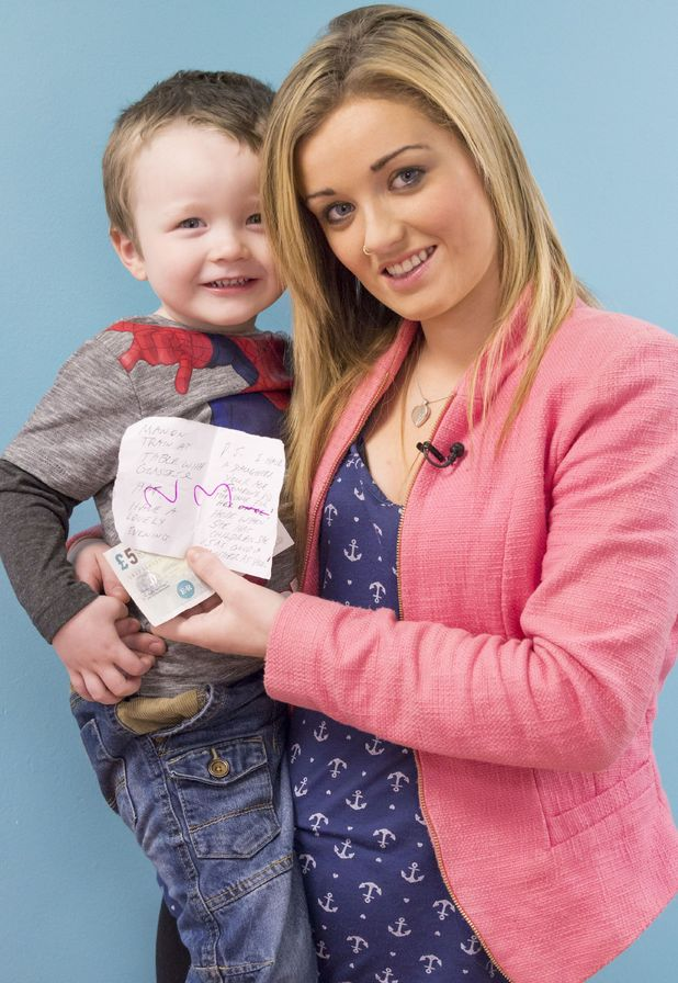 Sammie Edwards and son Rylan on 'Good Morning Britain', 26/1/15