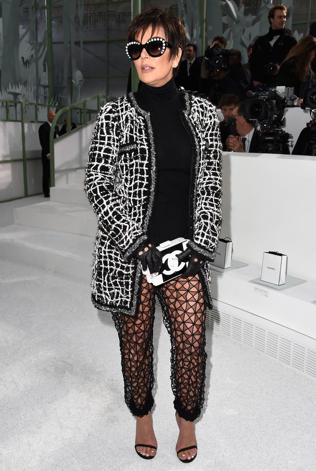 Kris Jenner attends the Chanel show at Paris Haute Couture Fashion Week - Paris, France - 27 January 2015