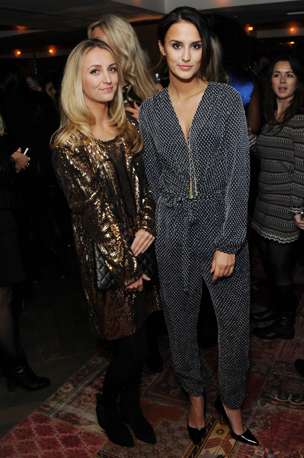 Lucy Watson and Tiffany Watson attend the PRIV launch party at The Belgraves Hotel in Chelsea, London - 29 January 2015