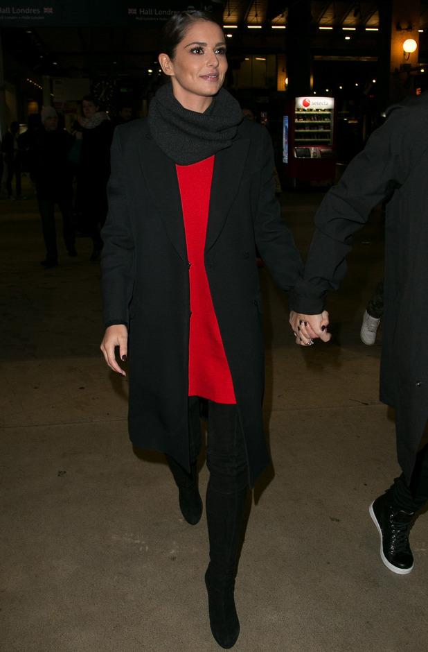 Cheryl Fernandez-Versini is seen at 'Gare du Nord' station on January 29, 2015 in Paris, France.