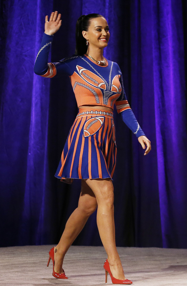 Katy Perry attends the Pepsi Super Bowl XLIX Halftime Show Press Conference on January 29, 2015 in Phoenix, Arizona.