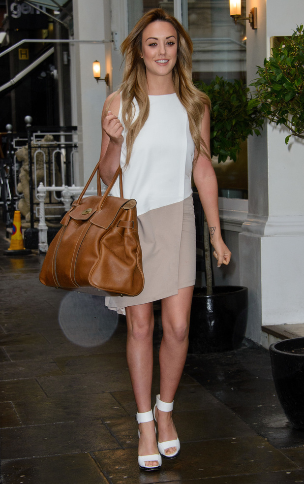 Charlotte Crosby makes her way to a photocall to promote her new clothing collection for InTheStyle.com - London, England - 28 January 2015