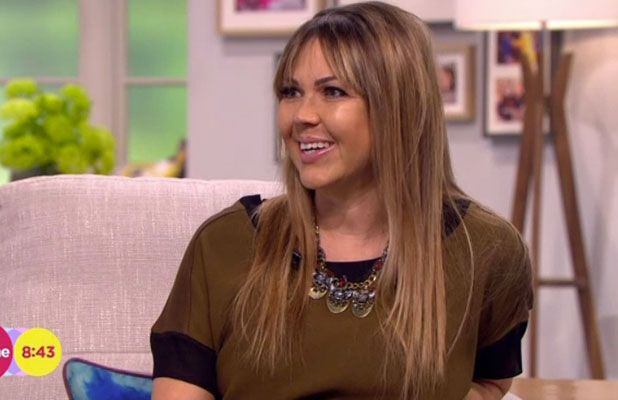 Adele Silva appears on Lorraine to talk about her pregnancy, 28 January 2015