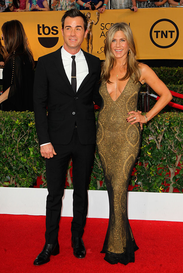 Jennifer Aniston and Justin Theroux at 21st Annual Screen Actors Guild Awards at The Shrine Auditorium, 25 January 2015