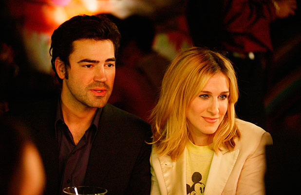 Ron Livingston (as Jack Berger), Sarah Jessica Parker (as Carrie Bradshaw) Sex and the City (HBO) season 6 Summer 2003 - Winter 2004
