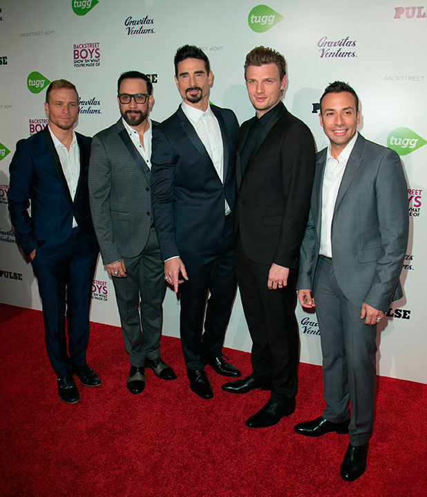 Brian Littrell, A.J. McLean, Kevin Richardson, Nick Carter, Howie Dorough, Backstreet Boyspremiere of 'Backstreet Boys: Show 'Em What You're Made Of' - Arrivals, LA, 29 January 2015