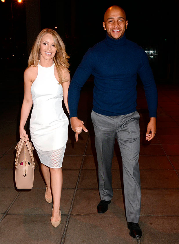 Katie Piper and fiance James Sutton at 'The Saturday Night Show' studios, 24 January 2015