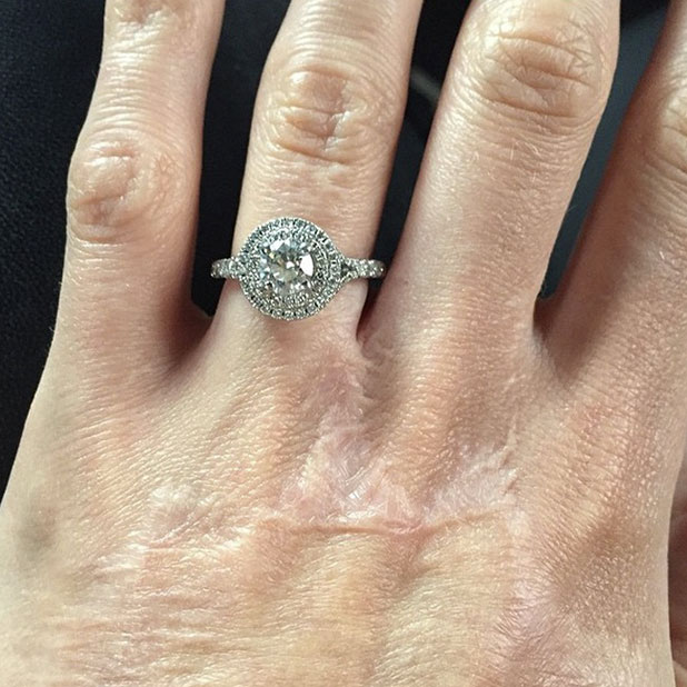 Katie Piper shares photo of her engagement ring from fiance James Sutton, 25 January 2015