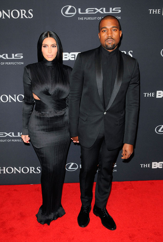Kim Kardashian and Kanye West, 2015 BET Honors held at the Warner Theatre, 24 January 2015