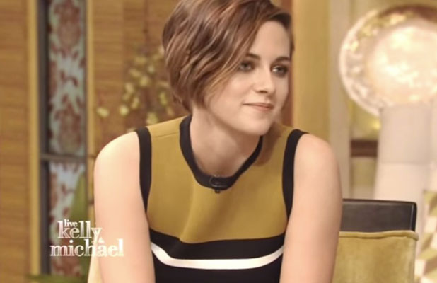 Kristen Stewart talks about dog Cole on Live with Kelly and Michael, 26 January 2015