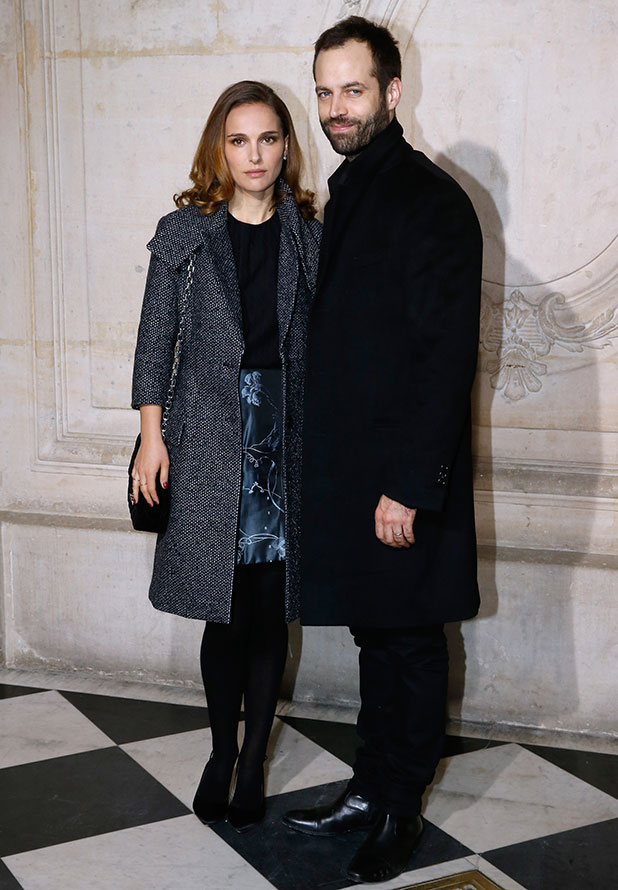 Natalie Portman and her husband, Paris National Opera dance director Benjamin Millepied attend the Christian Dior show as part of Paris Fashion Week Haute Couture Spring/Summer 2015> on January 26, 2015 in Paris, France.