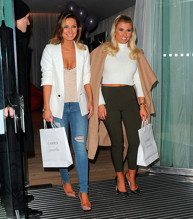 Sam Faiers launches her debut false eyelash range at Sanderson Hotel, following the launch of her debut fragrance La Bella last year, 28 January 2015