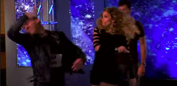American Idol: Jennifer Lopez fake slaps Samuel Prince in audition. January 2015